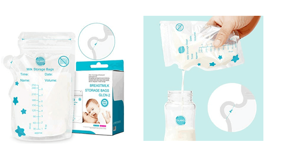 GLAND Easy Pour Spout Breastmilk Storage Bags