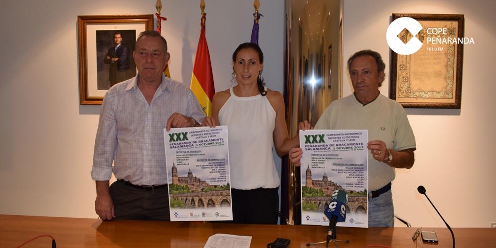 Candi González, Pilar García y Juan Sánchez, en la presentación de este campeonato.