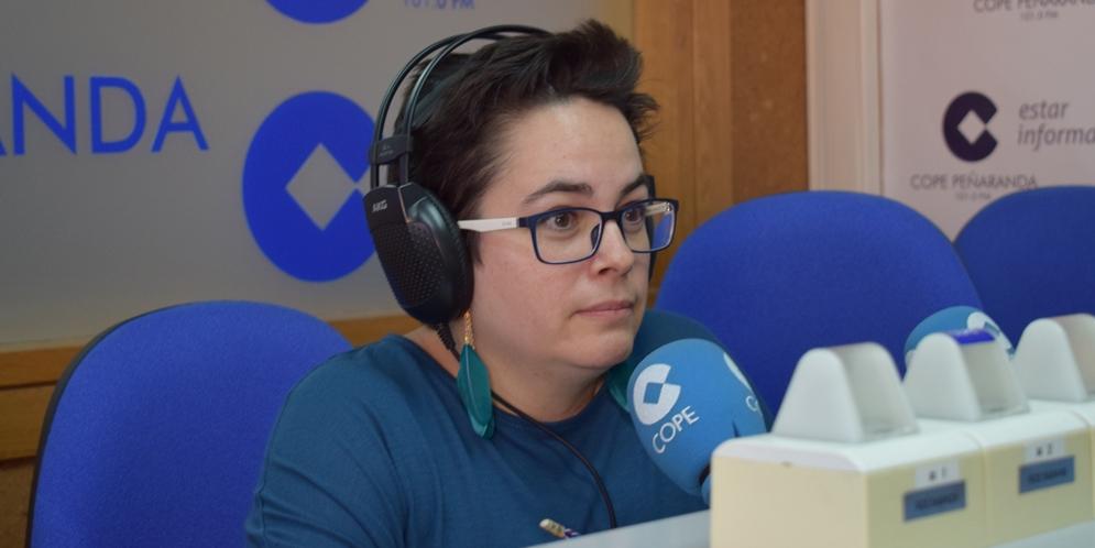 María Luis Sánchez, de Maryland, en los estudios de COPE Peñaranda.