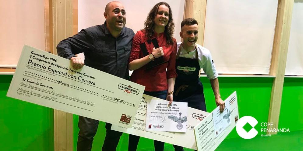 Heliodoro Flores premiado en el Campeonato nacional de tapas para Gourmets.