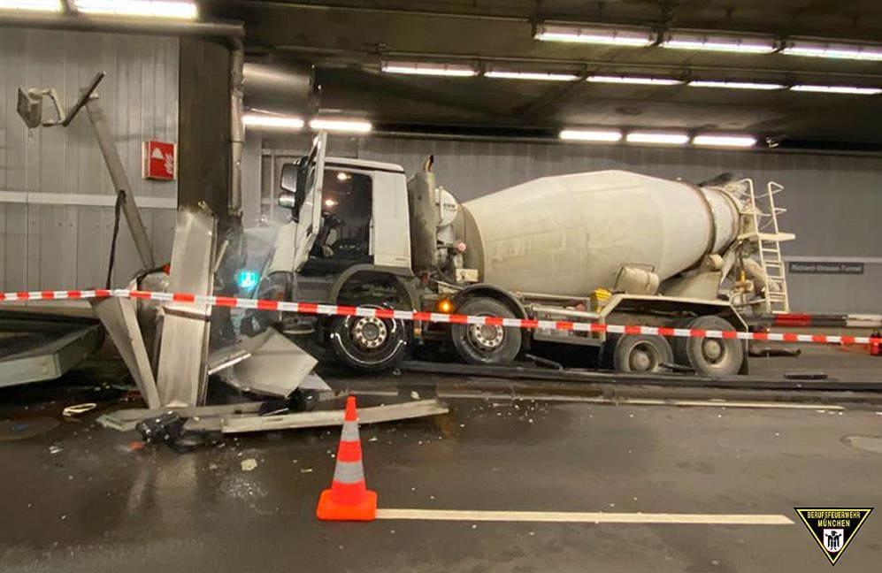 Betonmischer Richard-Strauß-Tunnel