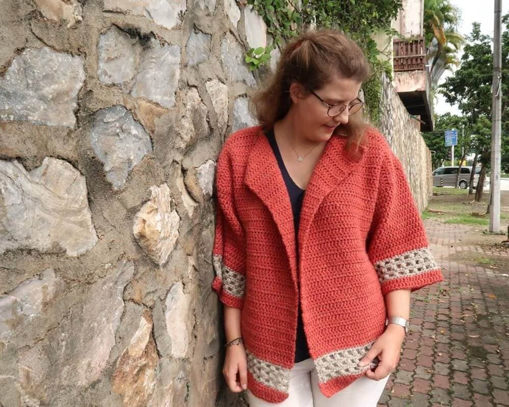 Hometown Chunky Cardigan Crochet Pattern FREE