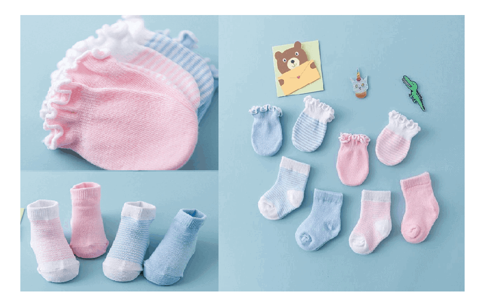 Newborn Socks and Mittens