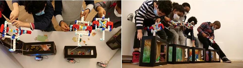 initiation à la programmation du stage vacances enfant 6-9 ans l'Aquarium Magique