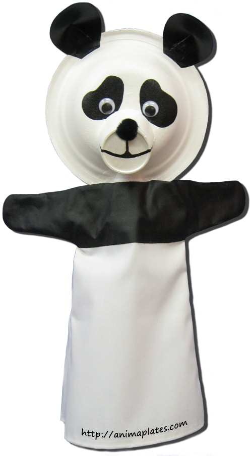 How to make a panda puppet