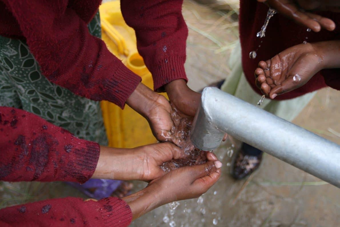 Un pozzo di acqua potabile