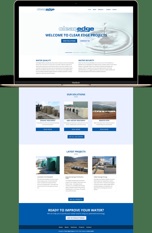 Fosker Media Web Design project Clear Edge