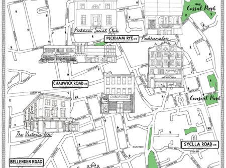 Peckham Map illustration