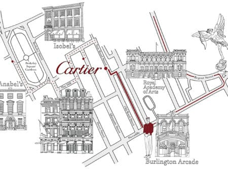 Cartier Boutique Luxury Private Party Map Map