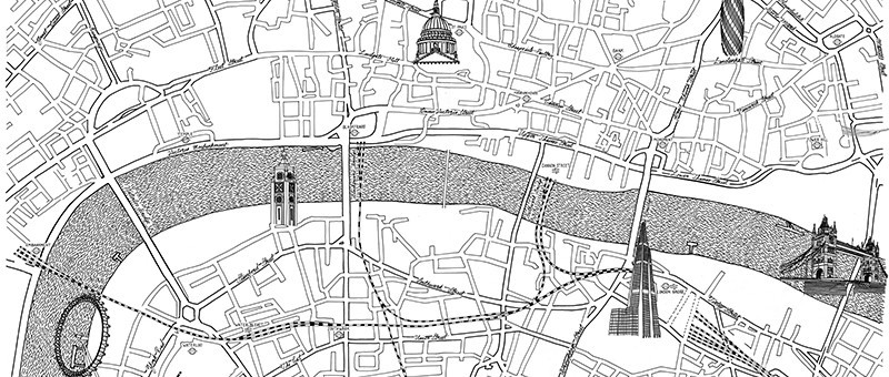 London Design Agency Sectorlight  London Map Drawing