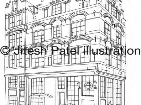 Metropolitan Magazine Amsterdam Travel Map illustration Jitesh Patel