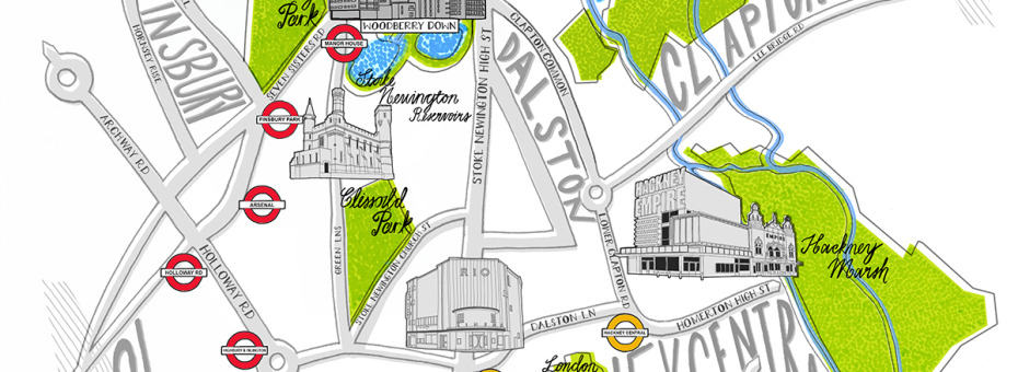 Woodberry Down Magazine Map