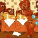 """Конспект занятия по формированию лексико – грамматических средств языка(пересказ сказки """"Три медведя"""")"""