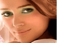 Красивый макияж для темно-зеленых глаз
