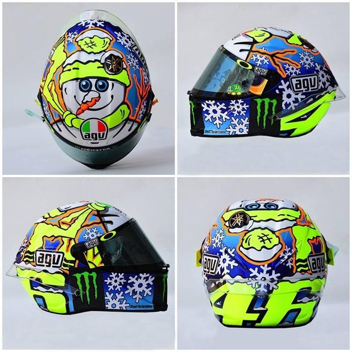"""MotoGP: Helm AGV """"Snowman"""" Valentino Rossi Khusus untuk Tes Sepang 2016"""