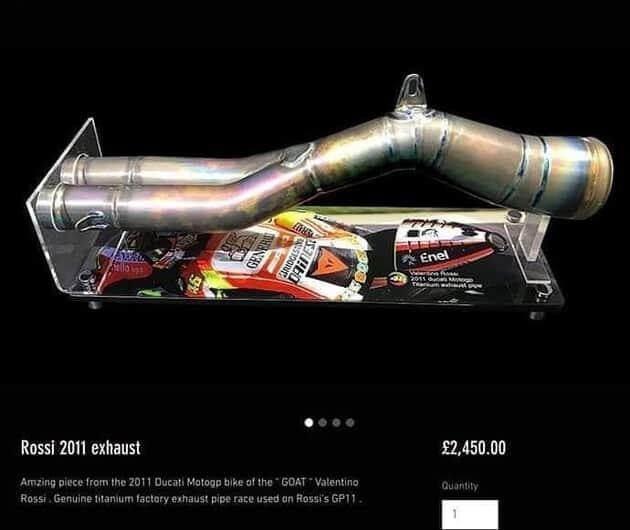 Potongan Knalpot Ducati GP11 Rossi ditawarkan Rp 44 Jutaan