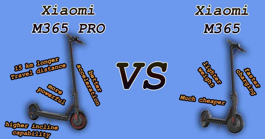 Xiaomi M365 PRO vs Xiaomi M365