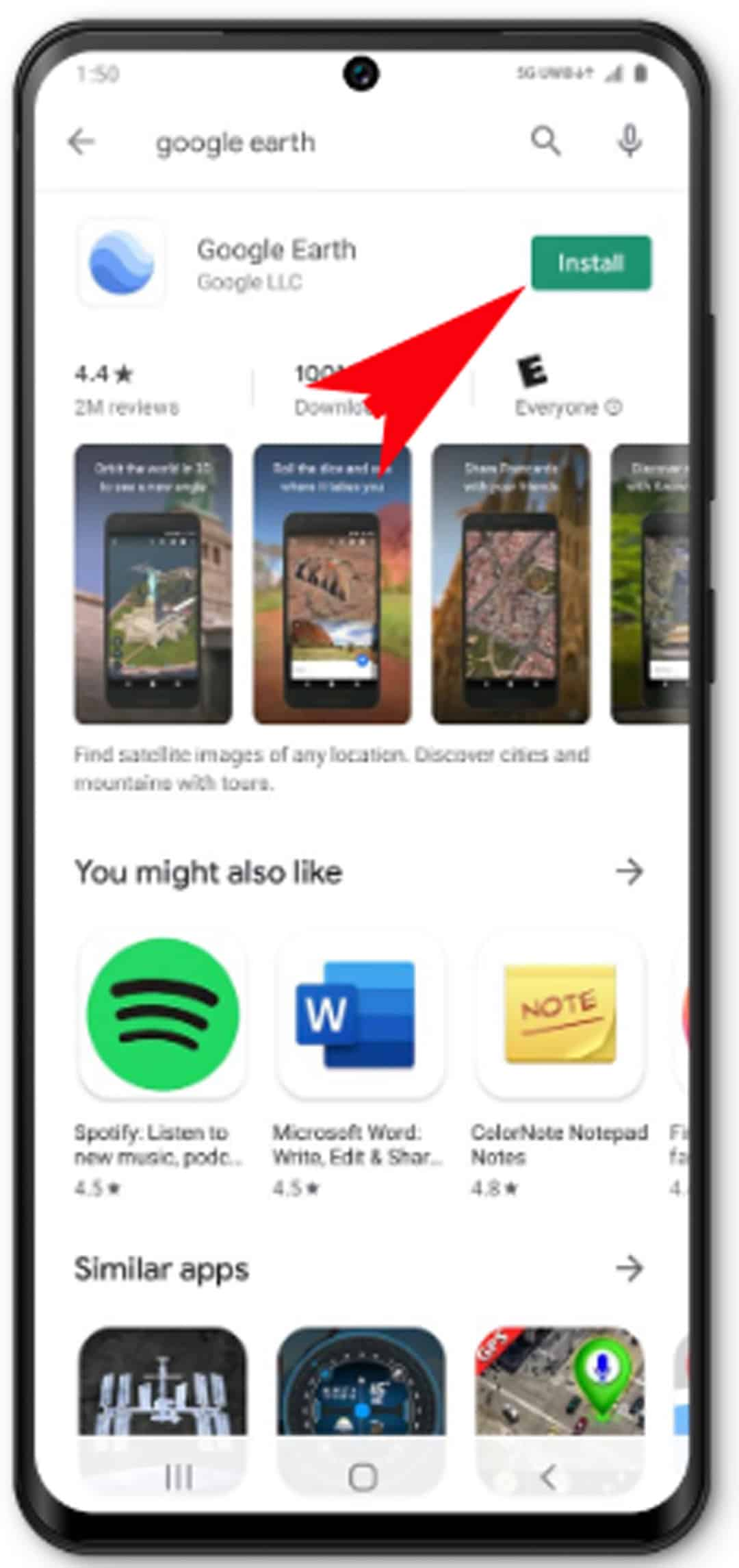 download app or widget galaxy s20 - tap Install