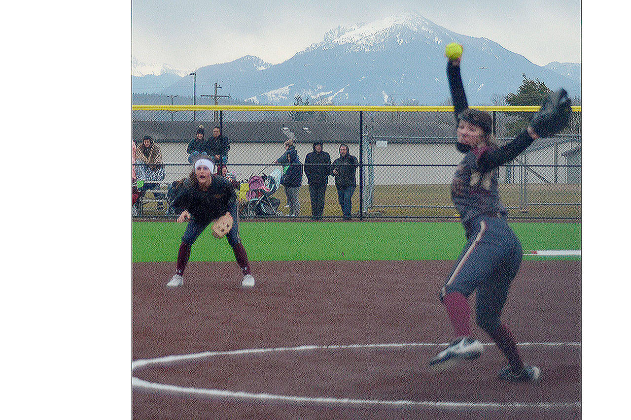 Steve Powell/File Photo                                  Riley Mae Swanson and Olivia Poulton were standouts for the girls softball team at Lakewood this year.