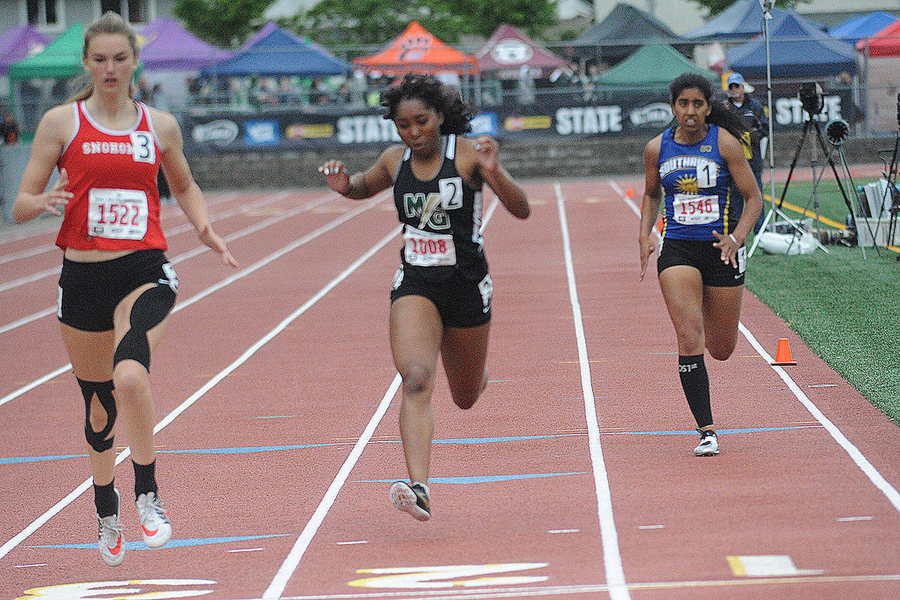 Kiarra Green, a senior from MG, was All-Wesco North in three track events. (Randy Ordonez/File Photo)