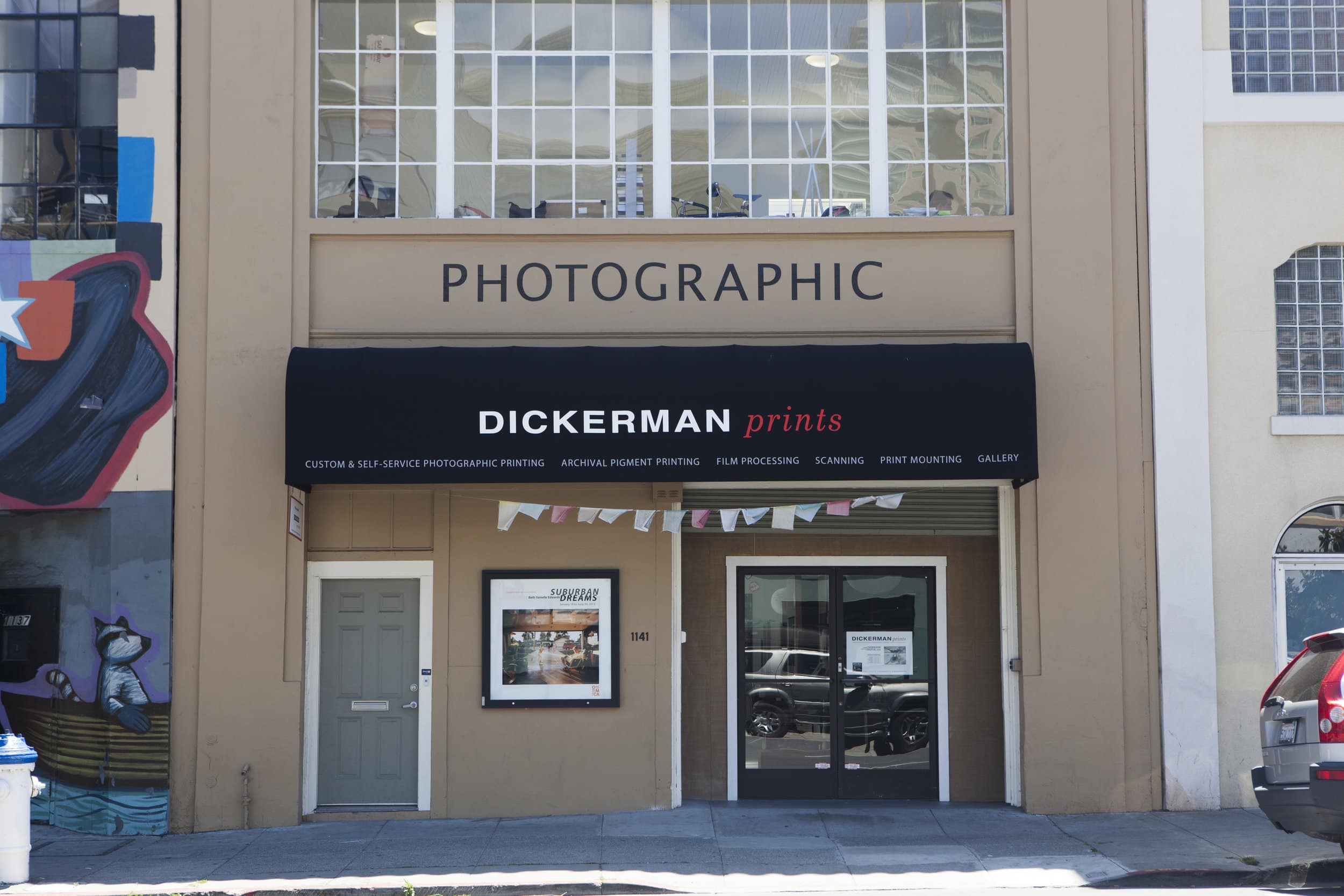 Here's what our print shop looks like from across the street. We are conveniently located at  1141 Howard Street  in San Francisco.  We've got plenty of  street parking!