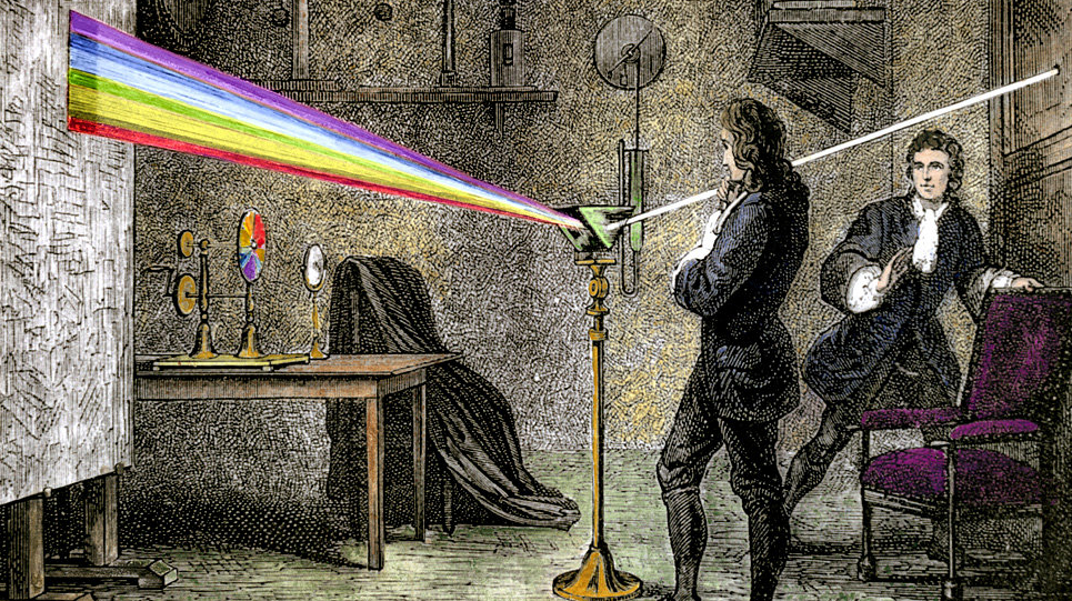 Our modern understanding of light and color begins with Isaac Newton