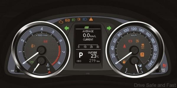 Toyota Optitron Meter Combination & MID