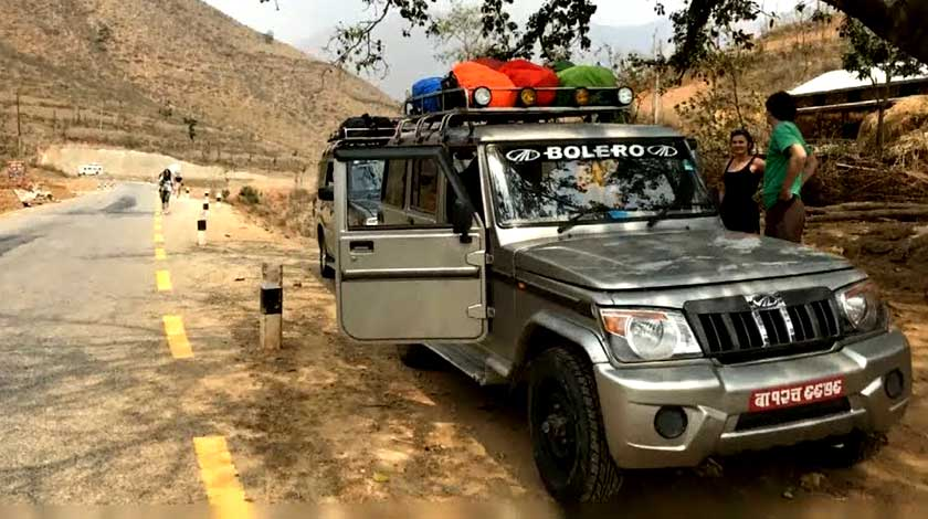 Kathmandu to Phaplu Bolero jeep