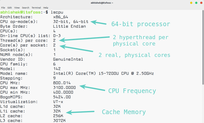 Checking CPU information in Linux command line