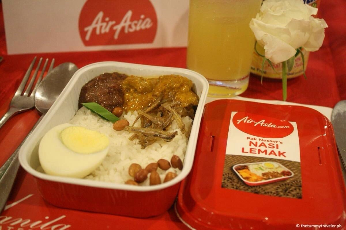 AirAsia Zest inflight meals