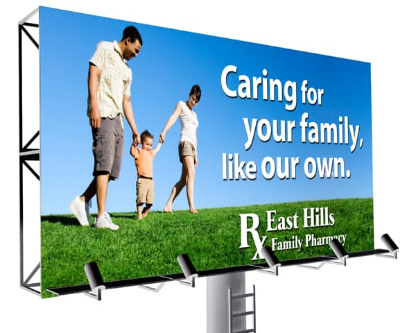 East Hills Family Pharmacy Billboard