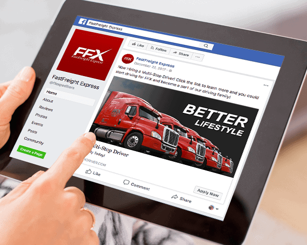 FastFreight Expeditors Recruiting Facebook Ads