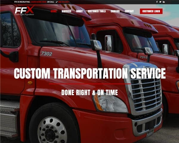FastFreight Expeditors Website