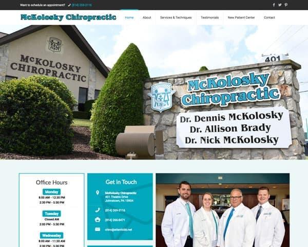 McKolosky Chiropractic Website