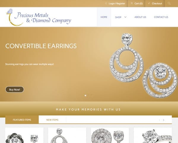Precious Metals & Diamond Company Website