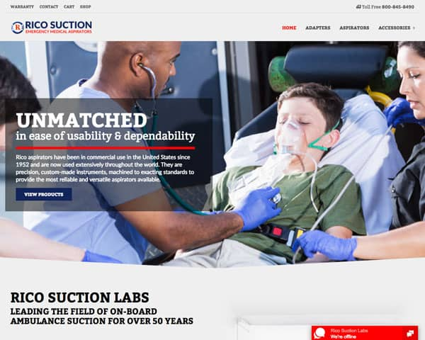 Rico Suction Labs Website