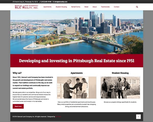 Samuel Land Company Realty Website