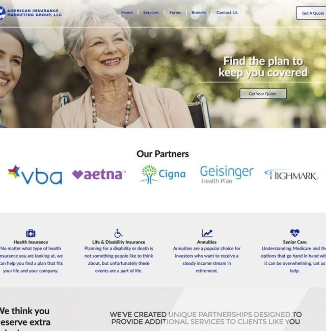 American Insurance Marketing Website