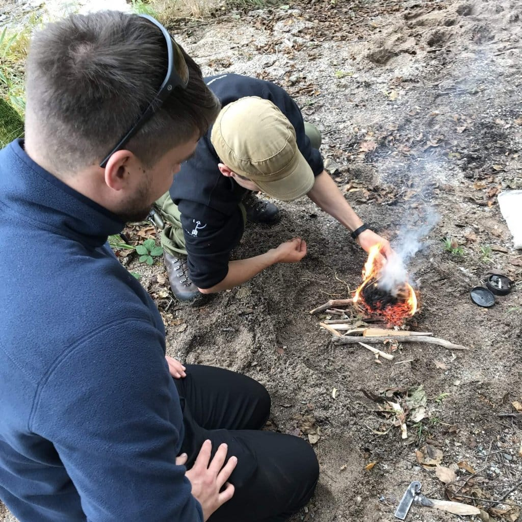 Bushcraft Course for corporate or leisure group in Scotland