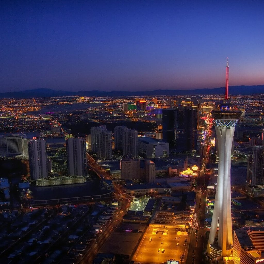 Las Vegas Strip mit Stratosphere Tower