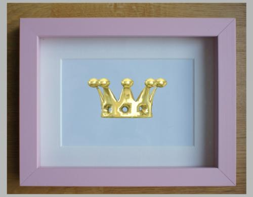 Pink Shadow box frame 15 x 20 crown