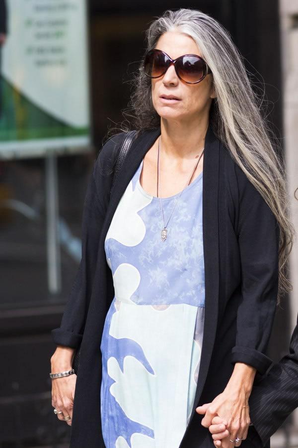 long sleek gray hair | 40plusstyle.com