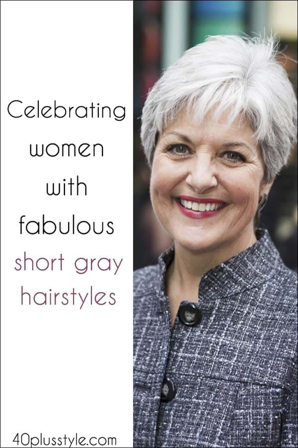 Fabulous short grey hairstyles   40plusstyle.com