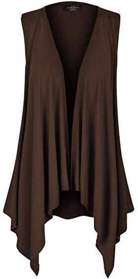 sleeveless vest cardigan | 40plusstyle.com