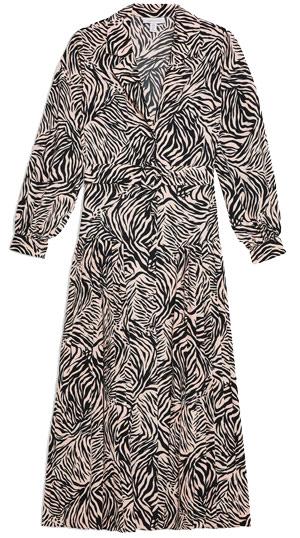 Topshop zebra print dress   40plusstyle.com