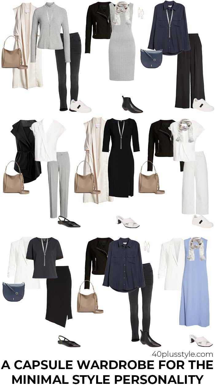 A capsule wardrobe for the minimal style personality | 40plusstyle.com