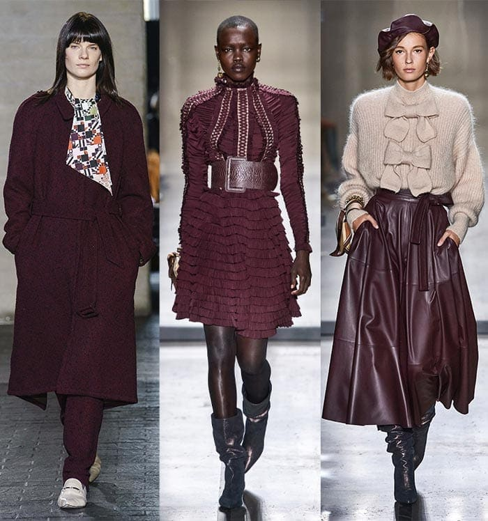 Deep burgundy color trends | 40plusstyle.com