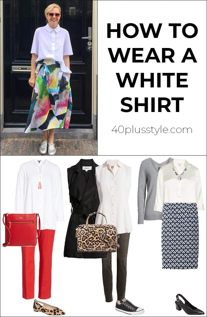 How to wear a white shirt | 40plusstyle.com