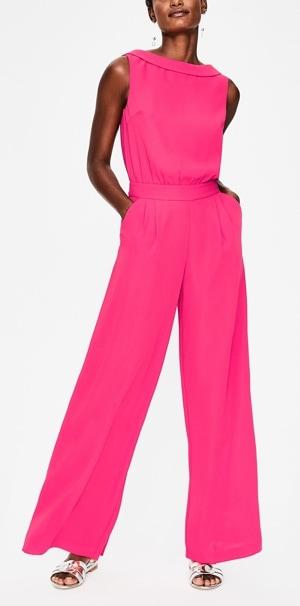pink jumpsuit | 40plusstyle.com