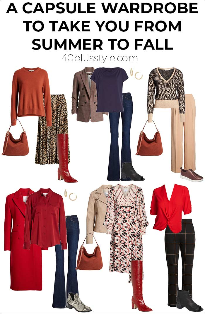 A capsule wardrobe to take you from summer to fall | 40plusstyle.com